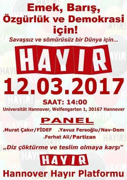 Unterstützt die HAYIR-Kampagne gegen die Verfassungsänderung in der Türkei