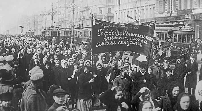 Vor hundert Jahren: Petersburger Textilarbeiterinnen gehen auf die Straße