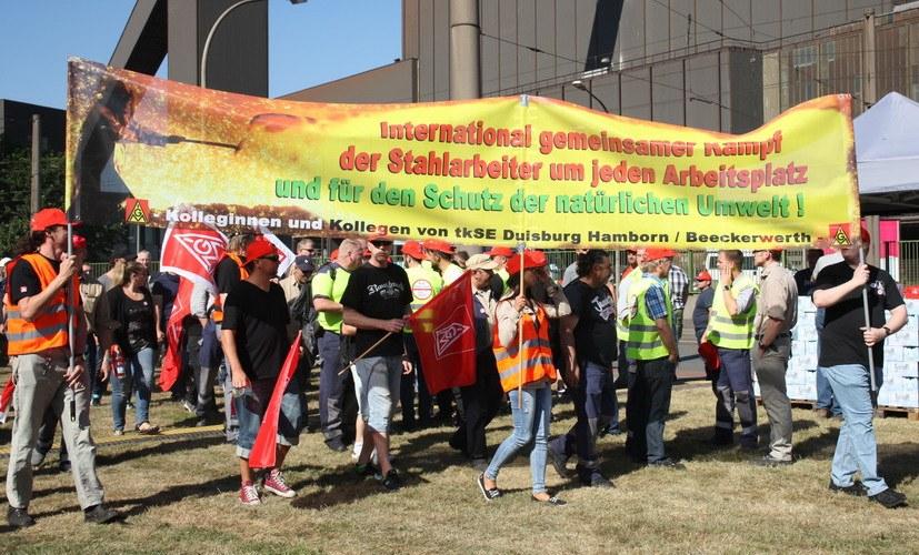 Dortmund: 400 Stahlarbeiter beim Warnstreik