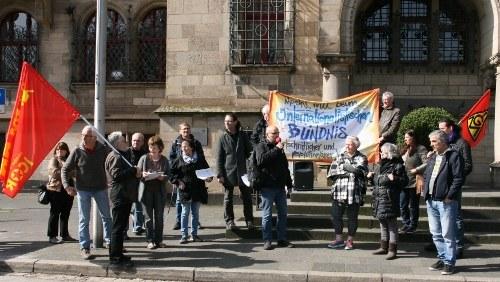 Internationalistische Liste/MLPD protestiert für Erhan Aktürk