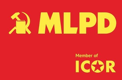 Protest gegen Behinderung der Unterschriftensammlung für die Internationalistische Liste/MLPD