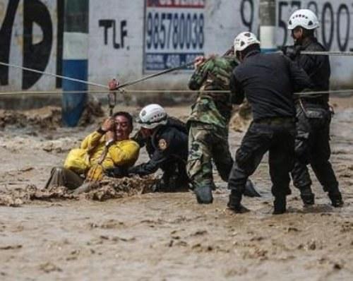 """Überschwemmungen in Peru - """"El Nino"""" lässt das Wetter aus den Fugen geraten"""