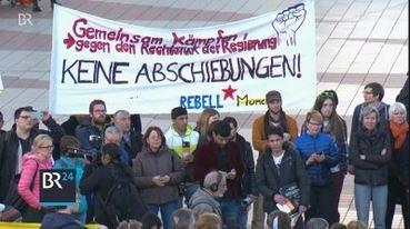 """Protestaktion gegen Abschiebung gestern abend im """"rundschau-magazin"""" des BR"""