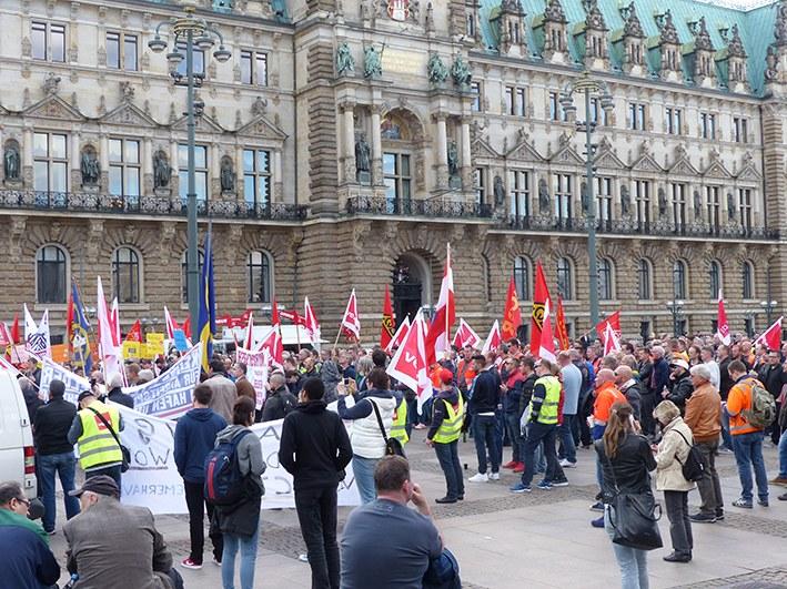 Hamburg: Maritimer Aktionstag kämpferisch und optimistisch