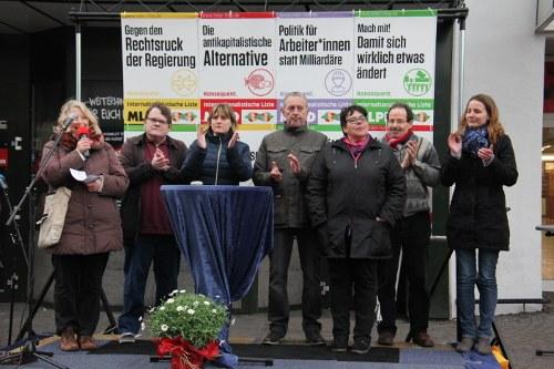 """Begeisternder Wahlkampfauftakt der Internationalistischen Liste/MLPD: """"Wir beziehen Position!"""""""