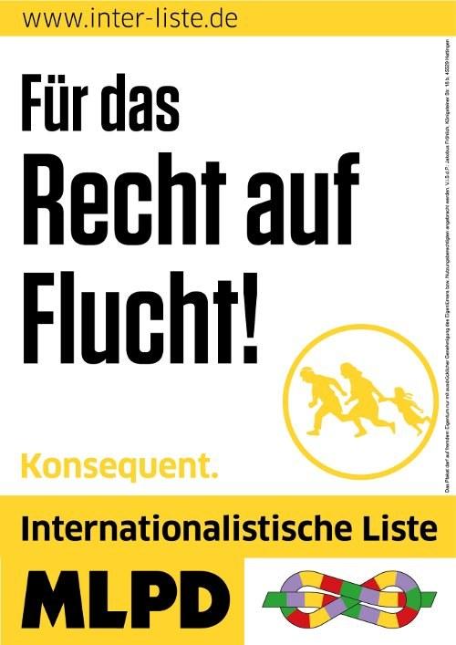 Am 22. April zum Wahlkampfauftakt der Internationalistischen Liste/MLPD: Gegen die Flüchtlingspolitik der EU und von Merkel