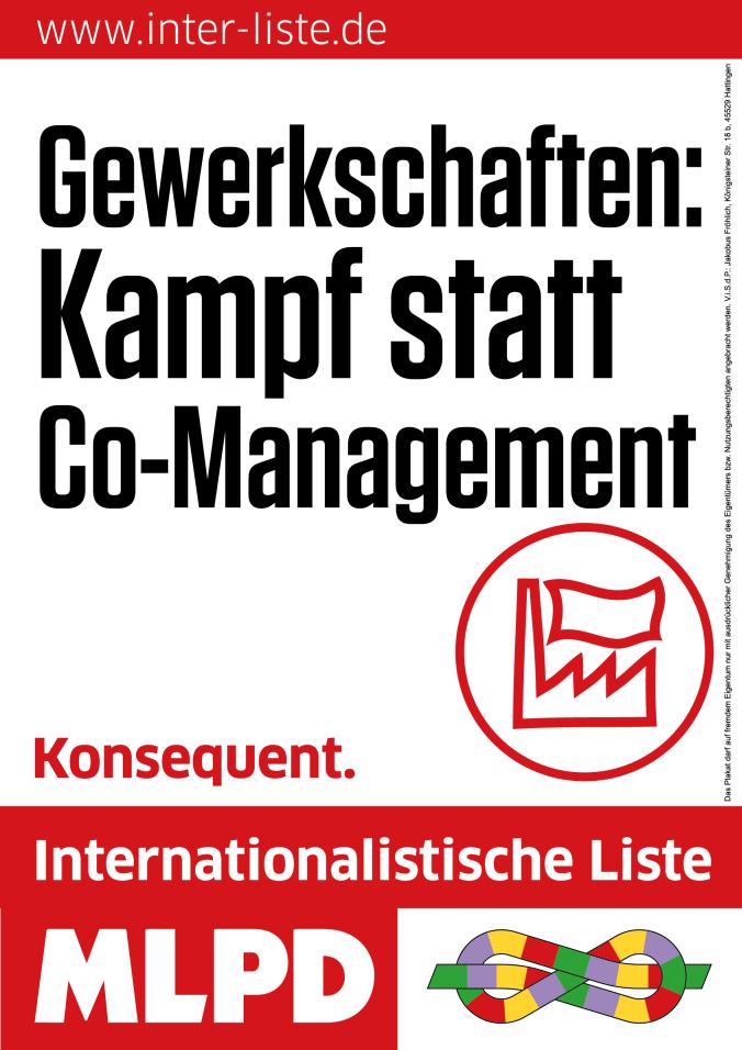 Statt SPD-Wahlwerbung vom NRW-IG-Metall-Vorsitzenden - am 1. Mai für starke überparteiliche Gewerkschaften!