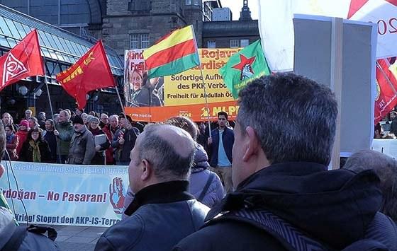 Protestkundgebungen gegen türkischen Angriff auf Rojava und Nordirak