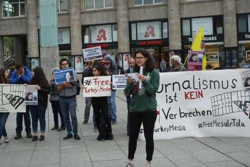 """""""Freiheit für die Journalistin Meşale Tolu"""""""