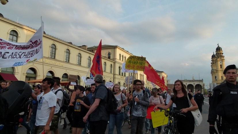 Proteste gegen Polizeieinsatz in Nürnberg