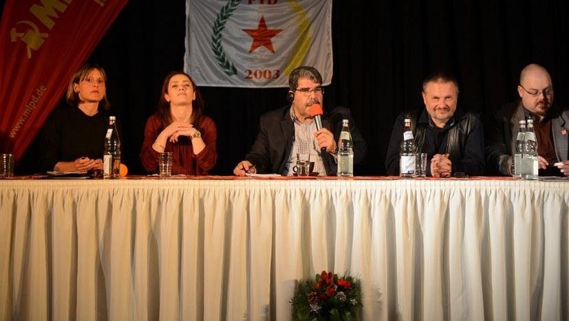 Veranstaltung mit Salih Müslim, Gabi Gärtner und anderen