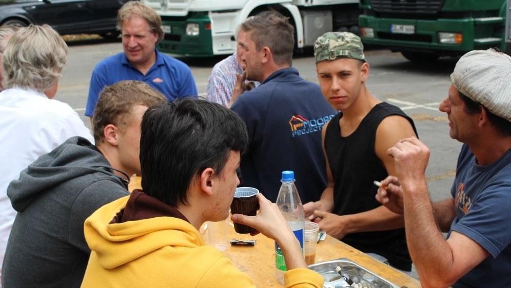 Polnische Leiharbeiter, die als Bauarbeiter eingesetzt werden (rf-foto)