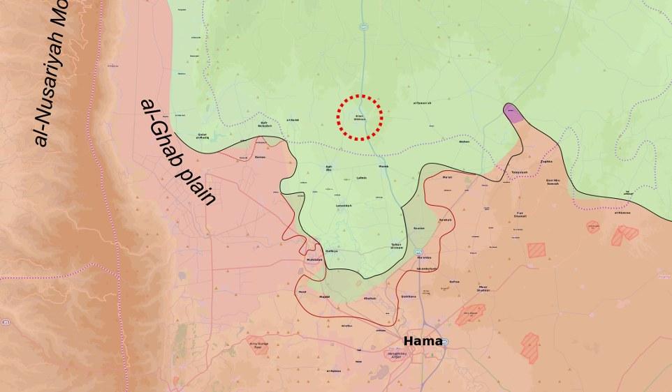 Chan Scheichun in der Nähe von Hama (Syrien) - (MrPenguin20 unter CC BY-SA 4.0)