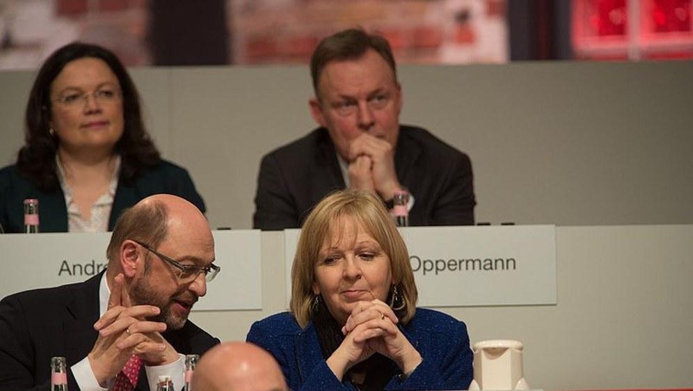 Die eine ist schon weg von der Bildfläche, beim anderen ist der Lack ab - Hannelore Kraft und Martin Schulz (foto: Kosinsky/kosinsky.eu))