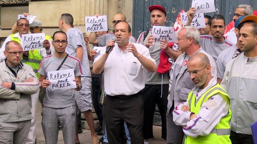 Protest gegen Kriminalisierung kämpferischer Gewerkschafter
