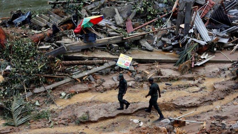 Unwetterkatastrophe in Sri Lanka