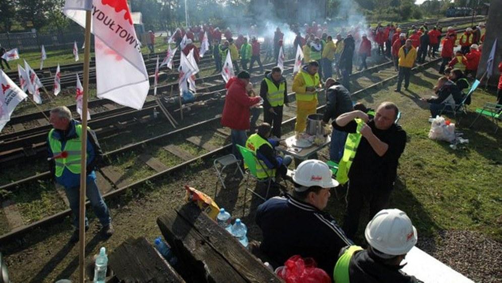 Kämpfende Bergarbeiter im Jahr 2014 (rf-foto)