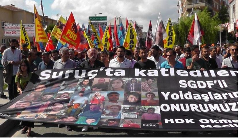 Gerechtigkeit für die Gefallenen des IS-Anschlags von Suruc!