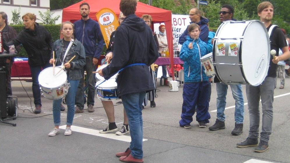 Am Wochenende werden Teilnehmerinnen und Teilnehmer des Sommercamps in Themar gegen das dort geplante Faschistenkonzert demonstrieren (rf-foto)