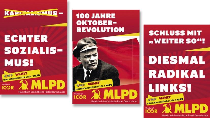 Drei neue Wahlplakate