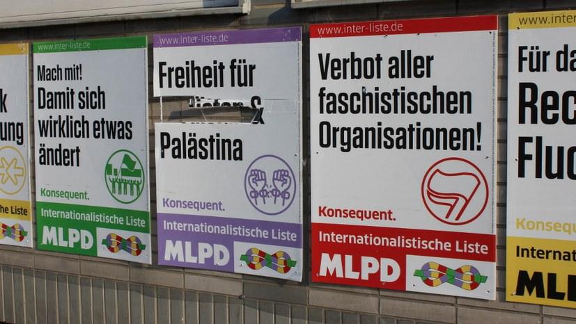 """Protestiert gegen die Zerstörung der Wahlplakate """"Freiheit für Kurdistan und Palästina"""""""