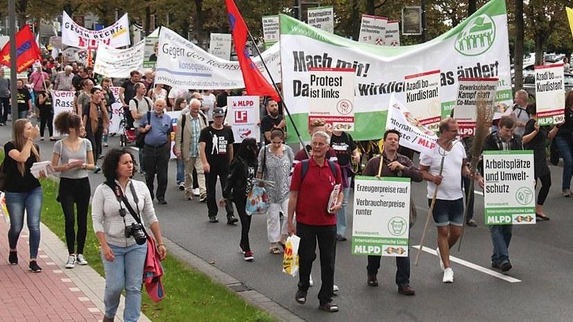 """Internationalistische Liste/MLPD: Mit unserem Slogan """"Protest ist links"""" sind WIR der klare Gegenpol zur AfD und allen nach rechts gerückten Kräften"""