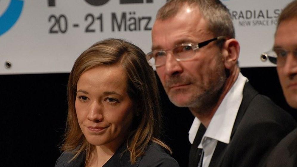 Volker Beck hier mit Ex-Frauenministerin Kristina Schröder (CDU) im Jahr 2010 - alte Freunde? (Thomas Vogt / CC BY-SA 2.0 generic)