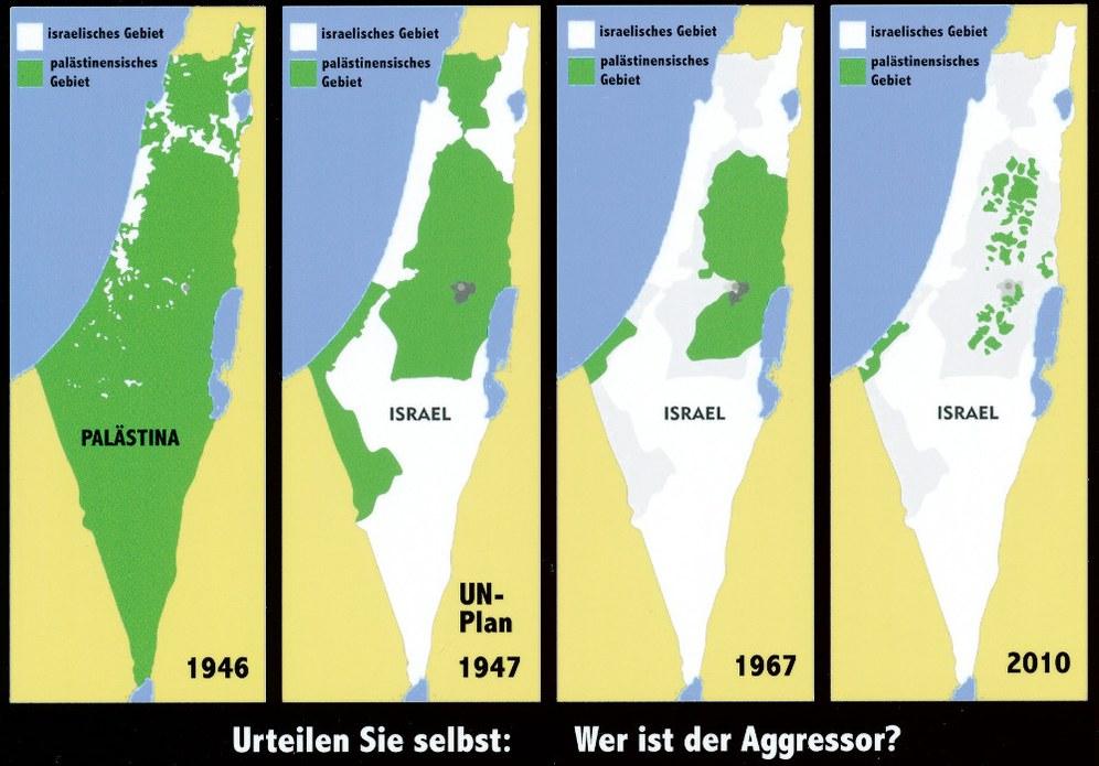 Wie Israel Stück für Stück Palästina okkupiert