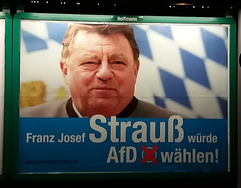 AfD wirbt mit verhasstem Monopolpolitiker