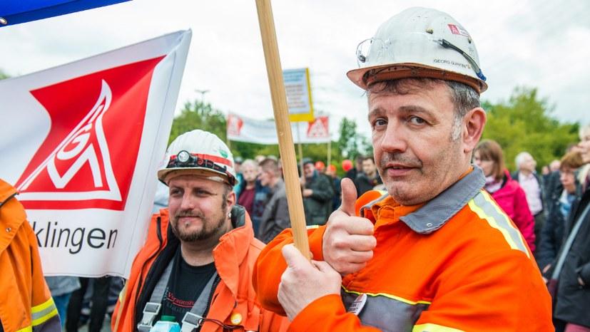 Streiks und Proteste in den Stahlbetrieben - Rote Fahne News wird weiter berichten