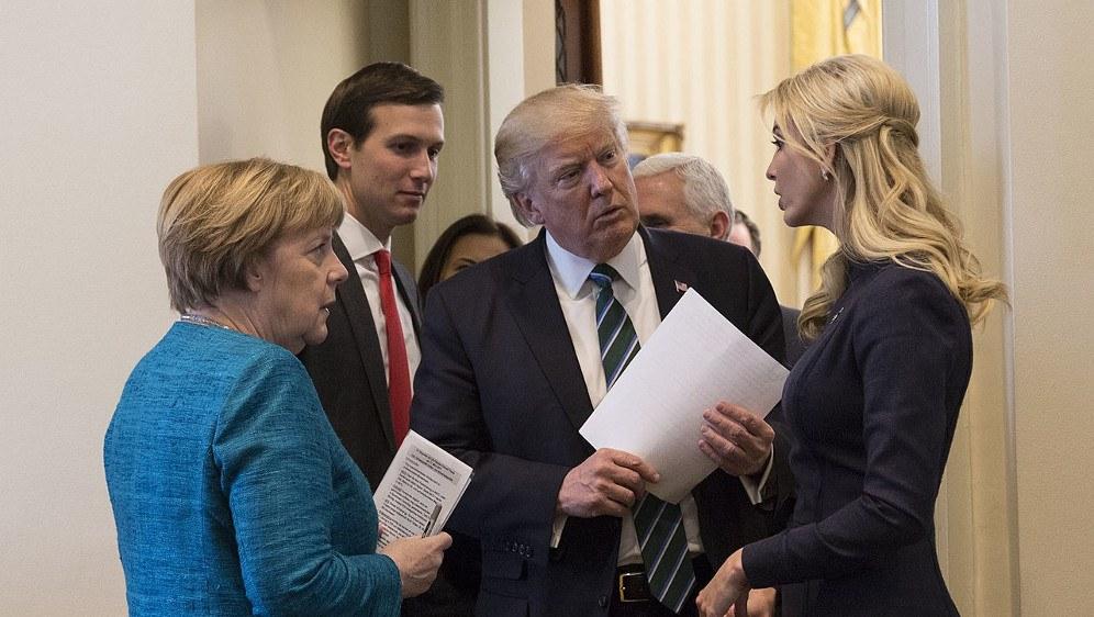 Donald Trump mit Bundeskanzlerin Angela Merkel (foto: gemeinfrei)