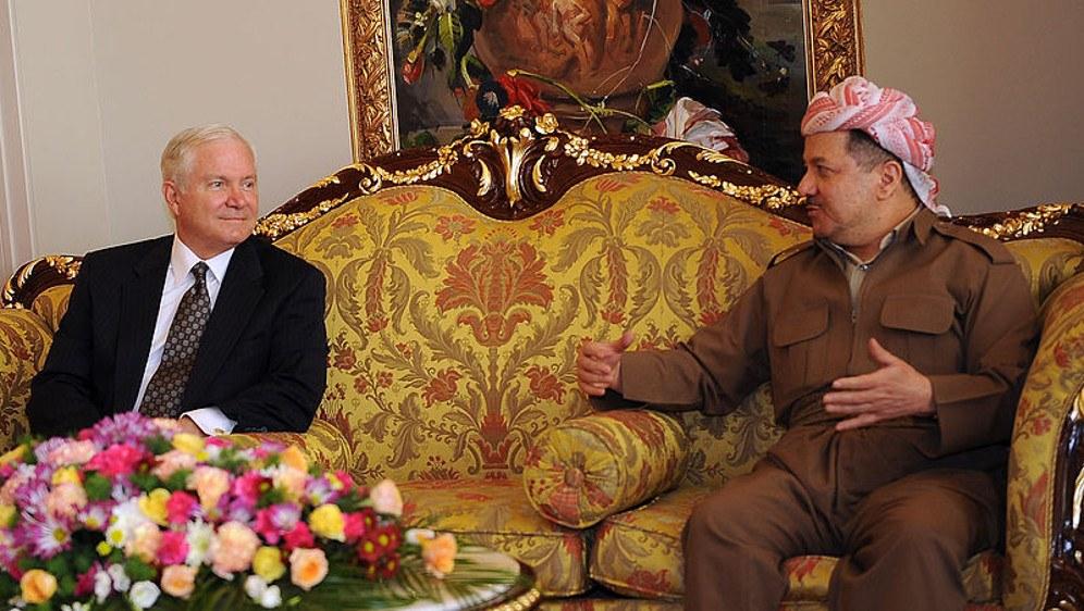Der Präsident der irakischen autonomen Region Kurdistan, Mesûd Barzanî, beim Besuch in Washington (foto: US Federal Government)