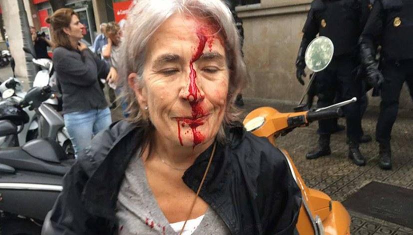Polizeiterror in Katalonien