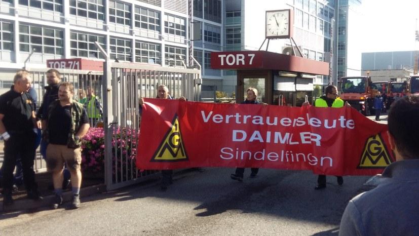 Zweimal verließen Daimler-Arbeiter das Band