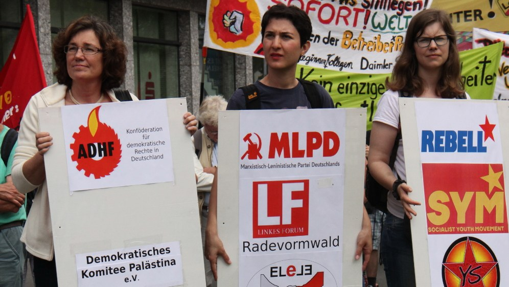 Bisher 16 verschiedene Organisationen haben sich im Internationalistischen Bündnis zusammengeschlossen (RF-Foto)