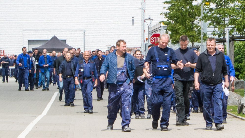 Protest der Krefelder Siemens-Belegschaft am 17. Mai (Foto: RF)