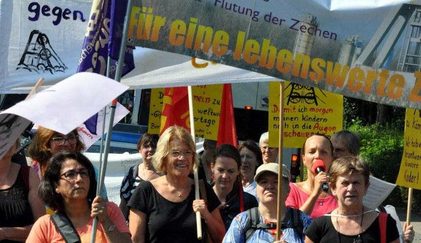 Aufstehen gegen Schließung der Steinkohlebergwerke und Deputatklau