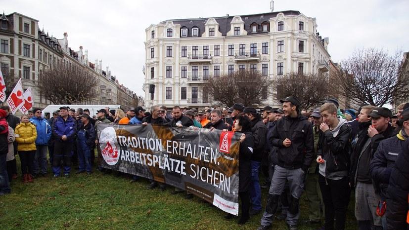 Protest gegen Schließung bei Siemens und Bombardier