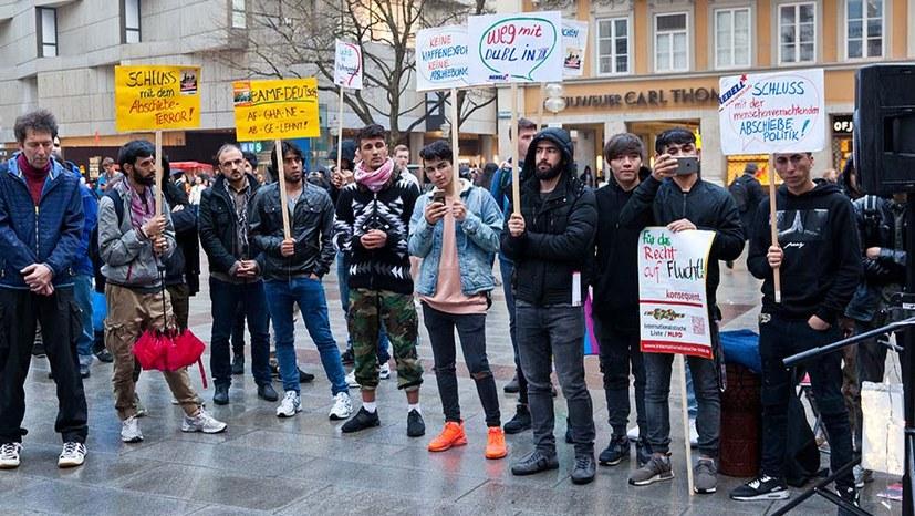 Protest gegen Abschiebung nach Afghanistan