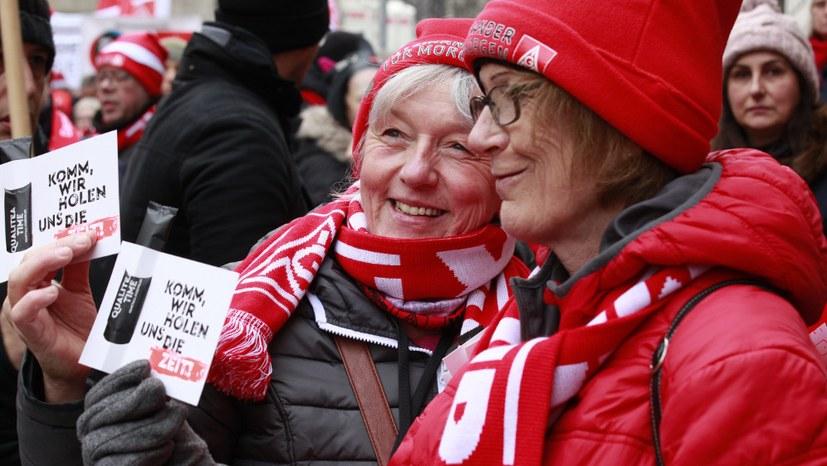 Lautstarke Demonstration durch München