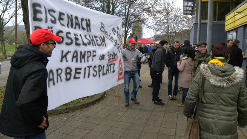 Protestversammlungen an allen deutschen Opel-Standorten