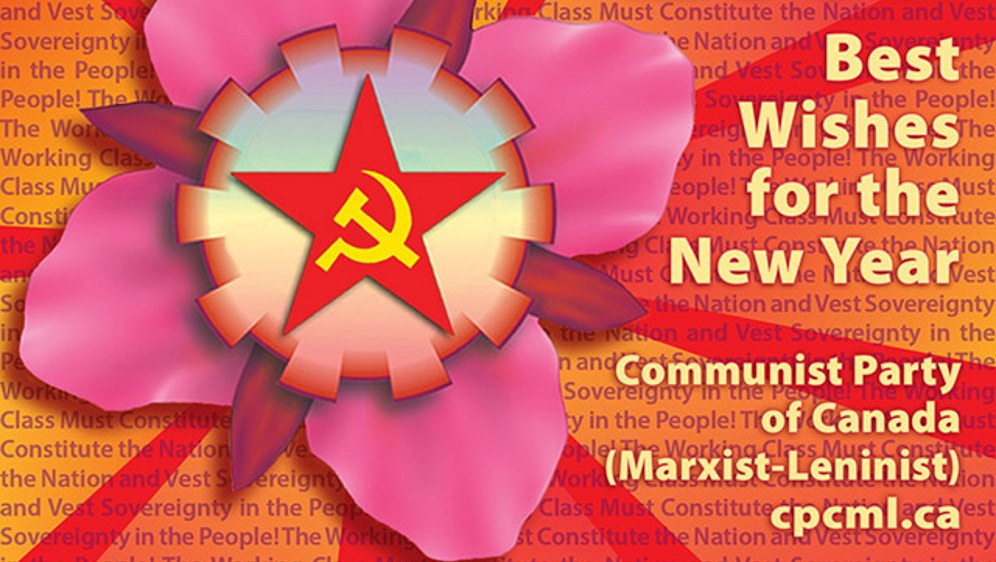 Grußkarte der Communist Party of Canady (Marxist-Leninist)