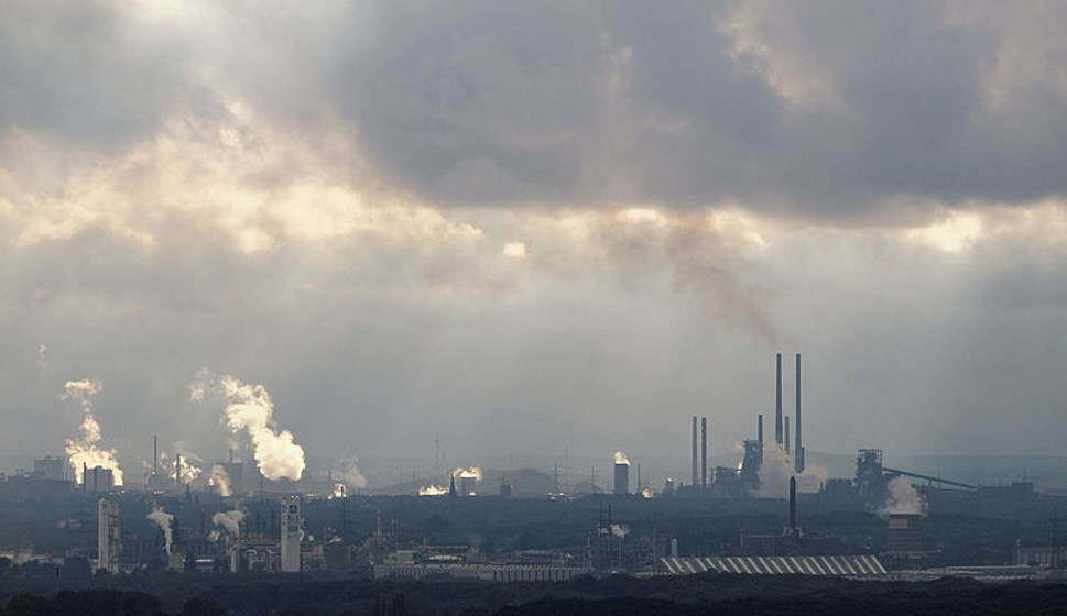 Die thyssenkrupp-Stahlwerke in Duisburg (foto: Arnoldius (CC BY-SA 3.0 nicht portiert))