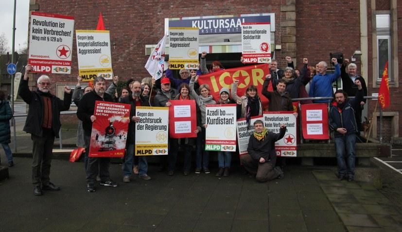 Solidaritätsaktion für spanische ICOR-Partei