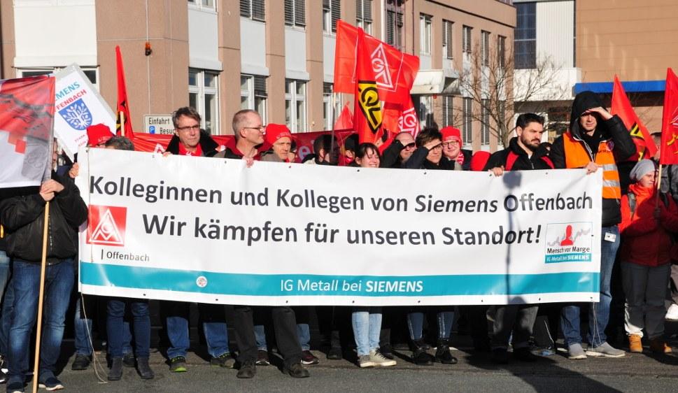 Kolleginnen und Kollegen von Siemens in Offenbach (rf-foto)