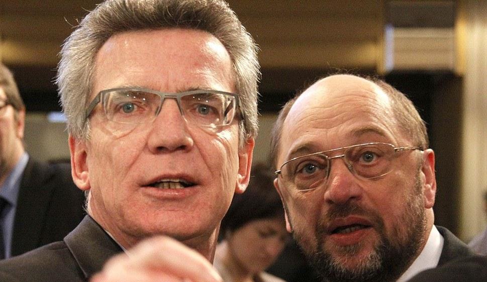 Thomas de Maizière (CDU) und Martin Schulz (SPD) foto: Sebastian Zwez CC BY-SA 3.0.de