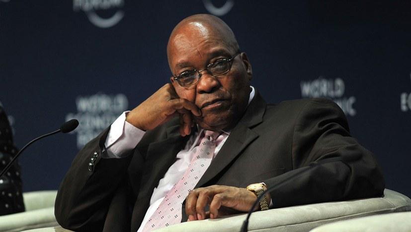 Präsident Zuma im freien Fall