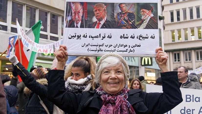 In Hamburg waren Demonstrantinnen und Demonstranten solidarisch mit den Massenprotesten im Iran (rf-foto)