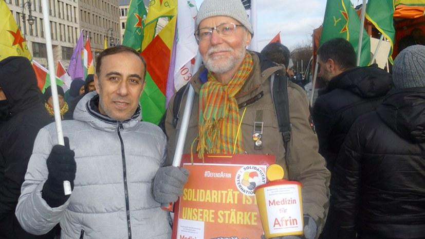 Protest gegen die Verhaftung von Saleh Muslim