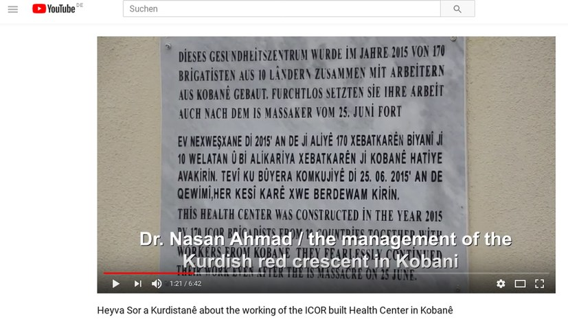 Roter Halbmond veröffentlicht Video über ICOR-Gesundheitszentrum